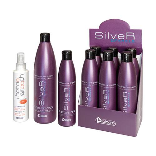 TERMO sklandžiai - speciale piastra sidabro SPARKLE - šampūnas antigiallo